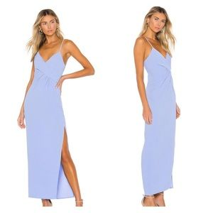 NBD   NWT Saanvi Gown in Periwinkle leg slit small